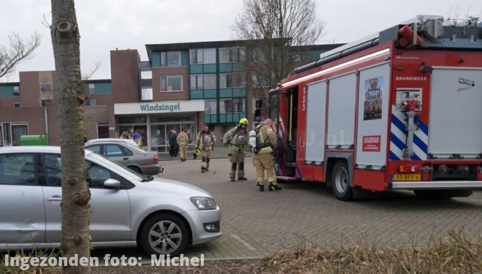 Melding van mogelijk gaslek aan de Windsingel, hulpdiensten ter plaatse
