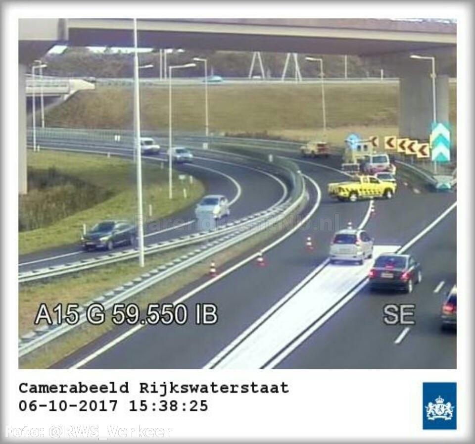 Ongeval A29 Vaanplein inmiddels afgehandeld, weg is weer vrij