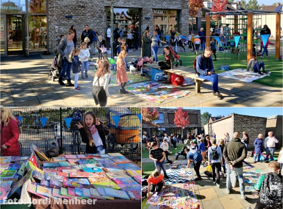 Kinderboekenmarkt op het schoolplein van CBS Het Kompas aan de Hoefslag