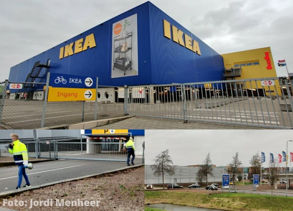 IKEA Barendrecht winkel en parkeerterrein ontruimd, terrein volledig afgesloten