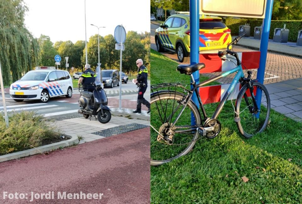 Scooter en fietser op elkaar gebotst bij rotonde Henry Dunantlaan / Boerhaavelaan