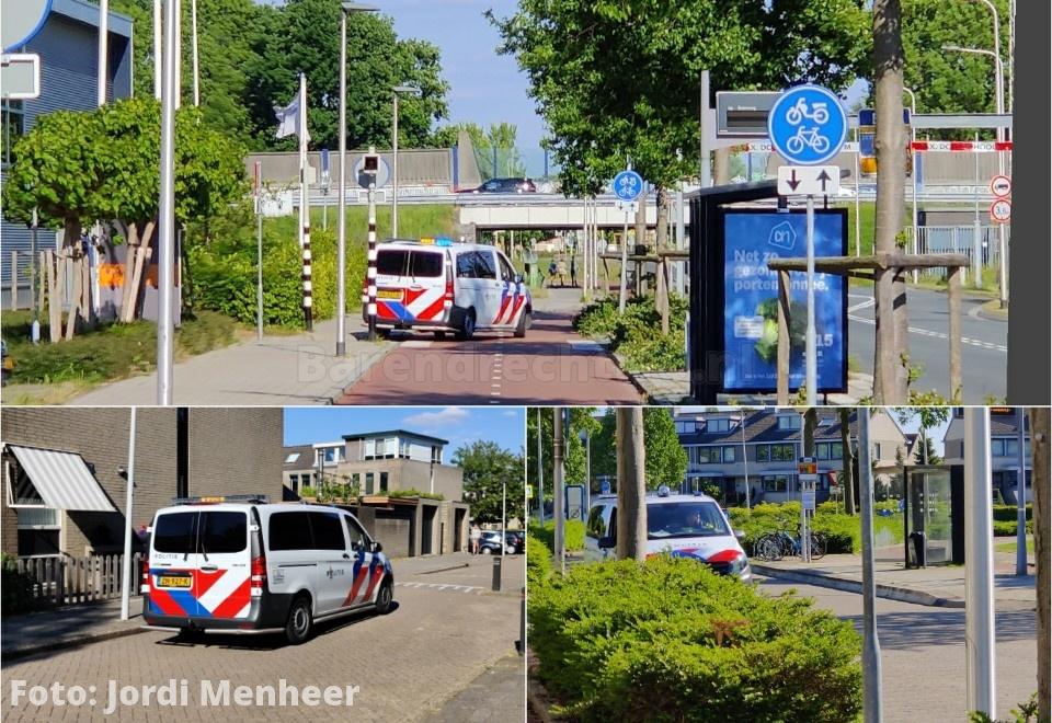 Achtervolging van rode crossmotor, politie doorzoekt wijk Nieuweland