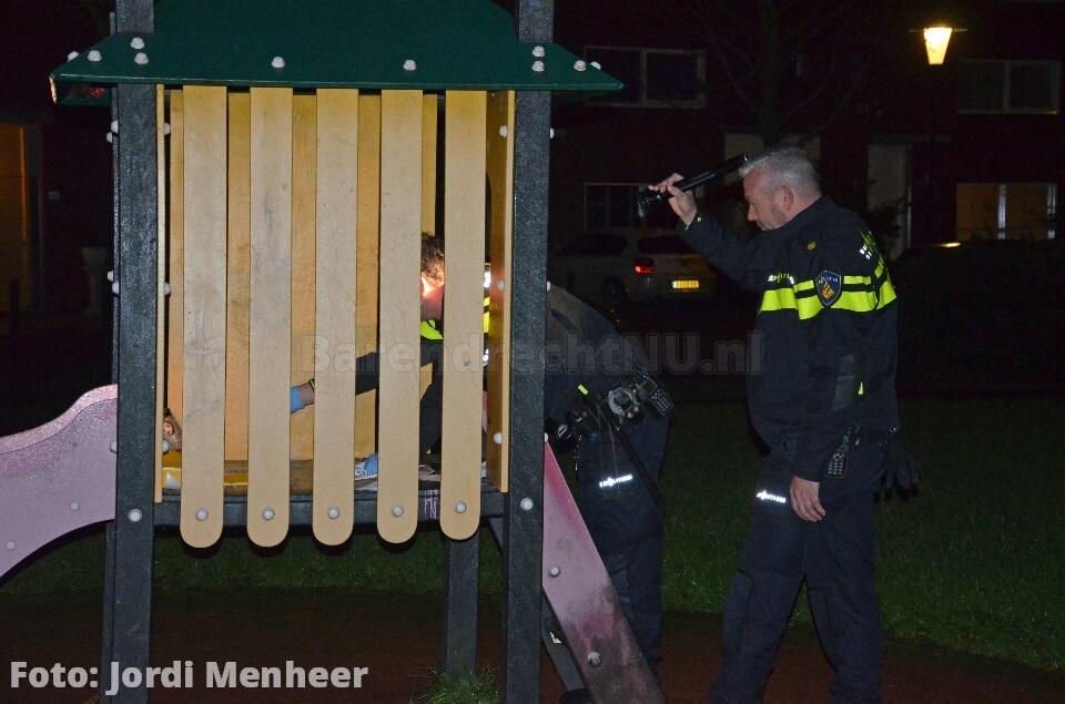 Live: Poging brandstichting speeltoestel Kreeftwater, politie stelt sporen veilig