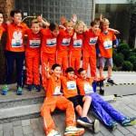 HCB JD1 rent €609 bij elkaar voor Kika tijdens de Kika Kidsrun in Rotterdam