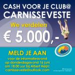 """""""Cash voor je club"""" bij de Carnisse Veste: €5.000 voor verenigingen"""