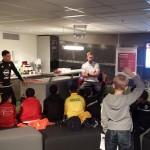 Jeugdwijkteam Barendrecht Noord/Binnenland op bezoek in De Kuip
