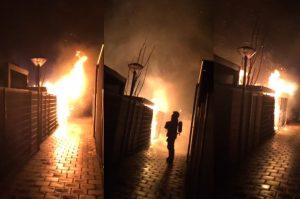 Schuur afgebrand in achtertuin van woning aan de Louisapolder