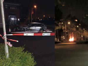 Autobrand op parkeerplaats van bedrijf aan de Brugge