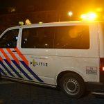 Politieauto in het centrum van Barendrecht