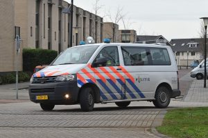 Politieauto in Carnisselande