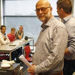 Directeur Calvijn Groene Hart geeft laatste les