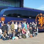 Schoolreisje in bus van Nederlands Elftal voor leerlingen klas 1C Edudelta College