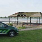 Steiger en overkapping aan de Oude Maas beschadigd door brand