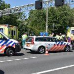 Motorrijder en bijrijder gewond bij val van motor op A29