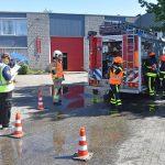 Jeugdbrandweer blust brand in Vitaal en stomerij tijdens wedstrijddag in Barendrecht