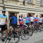 Aankomst bij de 10e Cycletour 2015 in Louny