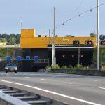 Heinenoordtunnel, A29 (Afgesloten tunnelbuis met rode kruizen)