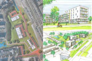 Nieuwe schetsen Stationstuin: 82 huur- en koopappartementen in 3 gebouwen