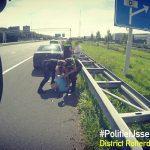 Verdachten van mishandeling verzetten zich tijdens aanhouding op A29 Barendrecht