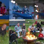 Kamperen en een lampionnen kano optocht in de Zuidpolder bij De Kleine Duiker