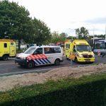 Drie gewonden bij aanrijding met bus en gaslek bij werkzaamheden kruispunt 1e Barendrechtseweg