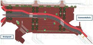 """Werkzaamheden nieuw gemeentehuisplein begin oktober van start: """"Een chique, uitnodigend plein"""""""