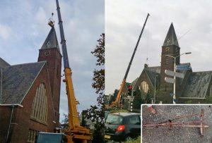 Windvaan met spoed van Bethelkerk gehaald vanwege gevaarlijke situatie