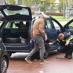 Blikschade door aanrijding bij uitrit parkeergarage Carnisse Veste