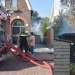 Schuur afgebrand in achtertuin van woning aan de Wester Hordijk