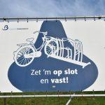 Fietsendiefstal preventie spandoek gemeente Barendrecht