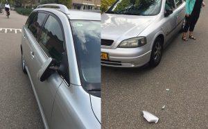 Autospiegels aan de Hoefslag moedwillig vernield