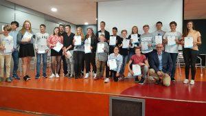 Diploma-uitreiking voor geslaagden van VTO Engels op het Dalton Lycum