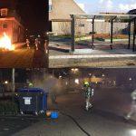 Afgelopen nacht containerbranden aan de Dorpsstraat-Oost en Achterom, vernieling Jan Gilles Oemvliet