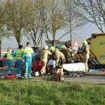 Auto over de kop geslagen op Verbindingsweg tussen Barendrecht en Ridderkerk