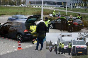 """Inbrekerswerktuig aangetroffen bij grote politiecontrole in Barendrecht: """"Beste boef, u bent gewaarschuwd"""""""