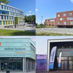 De vier voortgezet onderwijs scholen in Barendrecht