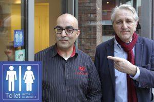 Publiek toegankelijke toiletten in Barendrecht herkenbaar dankzij sticker
