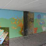 Kunstproject in tunneltje Park Buitenoord zal worden hersteld na vernieling op oudejaarsdag