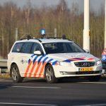 Politieauto (Verkeerspolitie op snelweg)