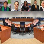Lijsttrekkers komen maandagavond bijeen, coalitieonderhandelingen gaan van start (Lijsttrekkers, gemeenteraadszaal)