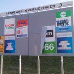 Aanplakbord gemeenteraadsverkiezingen 2018 Barendrecht (NS Station Barendrecht)