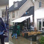 André Hazes junior in Barendrecht voor TV opnames in de wijk Vrouwenpolder