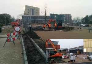 Bouwupdate werkzaamheden nieuwe gemeentehuisplein: Bomen, parkeerplaatsen en entree Middenbaan