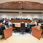 Bijeenkomst gemeenteraad (04-04-2018) over coalitieonderhandelingen