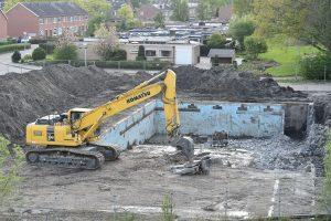 Zwembad 't Keerpunt uitgegraven, moet plaats maken voor nieuwbouw appartementencomplex