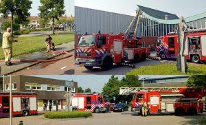 Sporthal Aksent geëvacueerd door brandmelding: slechts een kleine buitenbrand