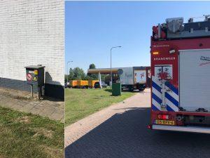 Voertuig tegen gaskast gereden van Shell tankstation aan de Dierensteinweg