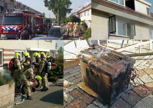 Frituurpan vliegt in brand in keuken aan de Brucknerstraat