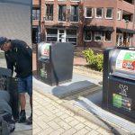 Vulgraad sensoren geplaatst in ondergrondse containers in Barendrecht