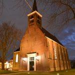 Dorpskerk Barendrecht (verlicht; in het donker)